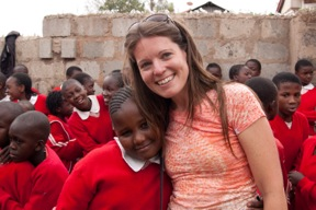 Angie Maddox at Kibera
