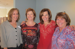 Debbie Britt, right, and Cindy Ariel, left, with the  retreat facilitators.
