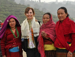 Donna Mens and village women in Nepal