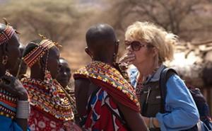 Helen Belletti learns about Maasai women's lives in Kenya, Sept. 2012