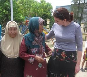 Rosalyn Burmood in Indonesia, Goats for Widows