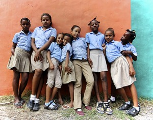 A group of Mariposa's girls in the Dominican Republic