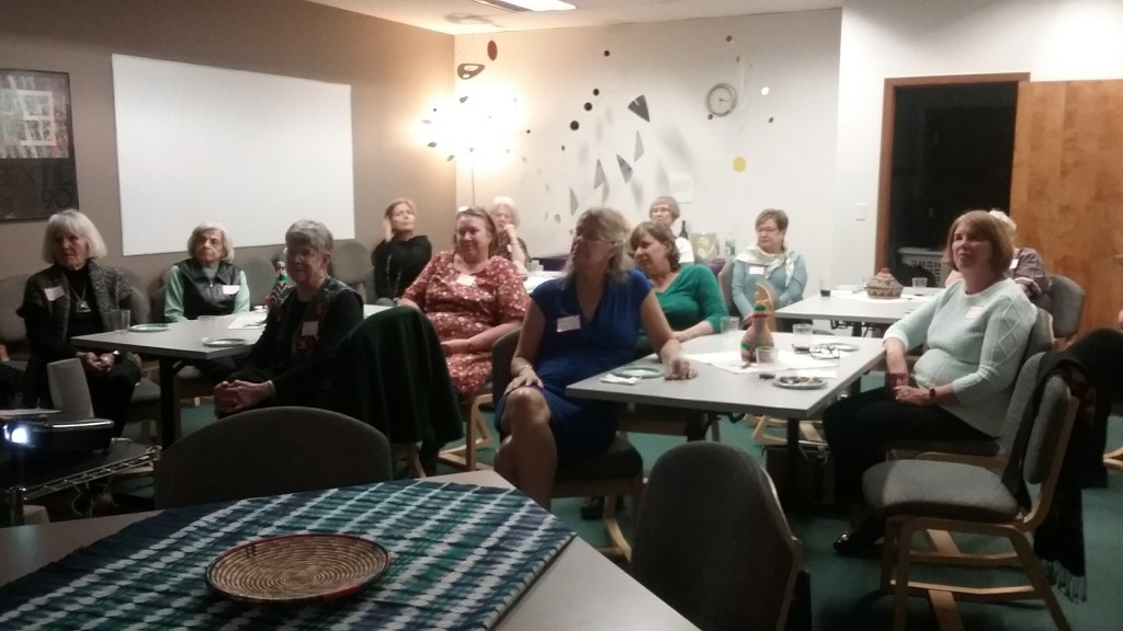 Caption: The three Fort Collins, CO chapters held a special joint meeting at the Global Village Museum in Fort Collins. Participating chapters were Fort Collins-3, led by Mary Halcomb, Fort Collins-4, led by Linda Mahan, and Fort Collins-5, led by Kendra Bartley.