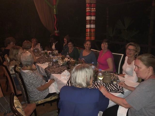 Group dinner at Republica restaurant
