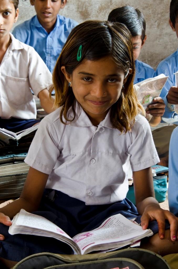 A girl in a school